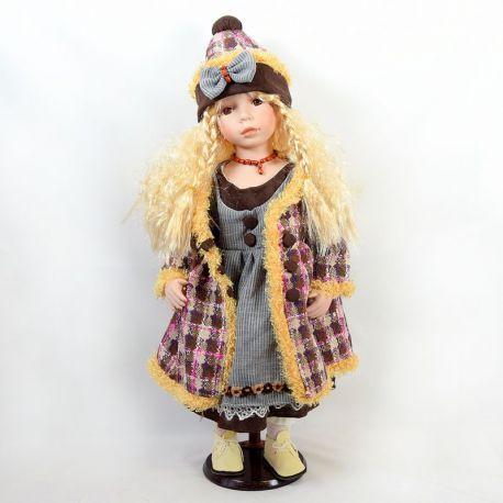 panenka cecilka porcelánová panenka sedící výška 70 cm více ...