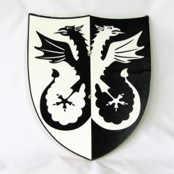 Štít - dvouhlavý drak
