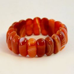 Náramek achát oranžový