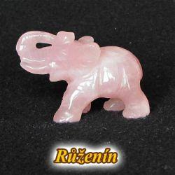 Slon - růženín větší