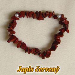 Náramek - červený jaspis