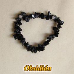 Náramek - obsidián