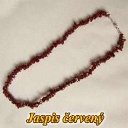 Náhrdelník - červený jaspis