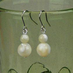 Perleťové náušnice