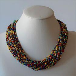 Barevný náhrdelník krátký