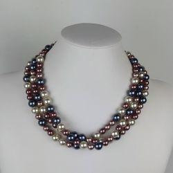Perlový náhrdelník trojřadý