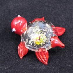 Želvička sklo červená
